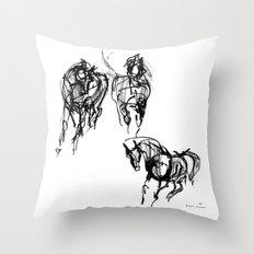 Horses (Trio) Throw Pillow