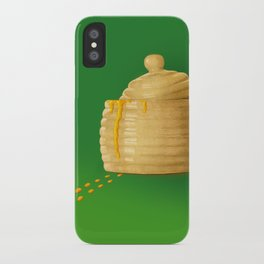 Dip Into The Honey Jar - Green Painting iPhone Case