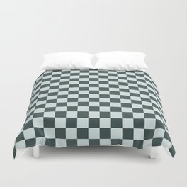 Checkerboard Pattern Inspired By Night Watch PPG1145-7 & Cave Pearl PPG1145-3 Duvet Cover