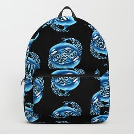 Orca Pattern Backpack