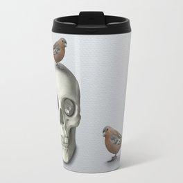 Skull & bird, watercolor Travel Mug