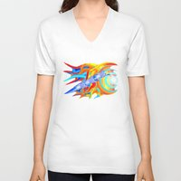 ducks V-neck T-shirts featuring liquid ducks by JT Digital Art