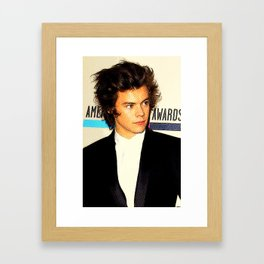 Harry Styles With Color Halftone Framed Art Print