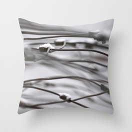 Loose Coil in Motion Throw Pillow