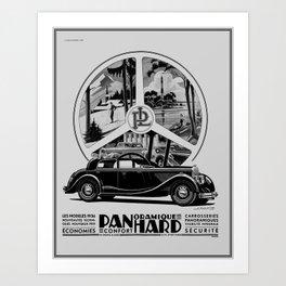 Panhard 1936 classic French art deco auto Art Print