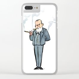 Sigmund Freud Clear iPhone Case