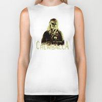 chewbacca Biker Tanks featuring Chewbacca by iankingart