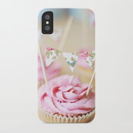bunting cupcakes iPhone Case