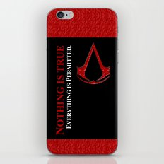 Assassin's creed nothing is true everything is permited iPhone 4 4s 5 5c, ipad, pillow case & tshirt iPhone & iPod Skin