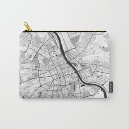 Warsaw Map Gray Carry-All Pouch