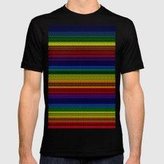 Tribality Rainbow Black Background Mens Fitted Tee MEDIUM Black