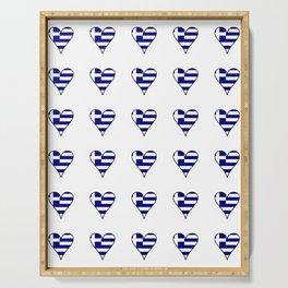 Flag of greece 3-Greek, Ελλάδα,hellas,hellenic, athens,sparte,aristotle. Serving Tray