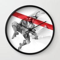 ninja Wall Clocks featuring NINJA by mobokeh