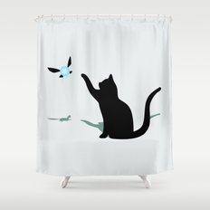 Cat and Navi Shower Curtain