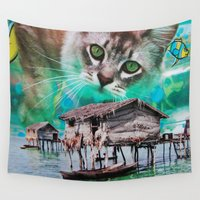 meow Wall Tapestries featuring Meow by John Turck