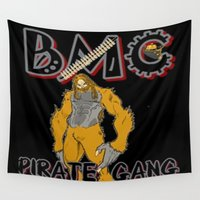 cannabis Wall Tapestries featuring TIMOTHY THE CANNABIS PRESENTS RICO FROM THE BMC PIRATE GANG by Timmy Ghee CBP/BMC Images  copy written