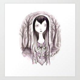 Vamp Girl Art Print