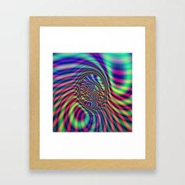 Psychedelic Oval Labyrinth Framed Art Print
