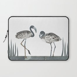 Flamingos in Silvery Blue Laptop Sleeve