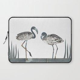 Flamingos in Silvery Blue Laptop Sleeve