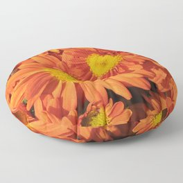 Petals a L'orange Floor Pillow