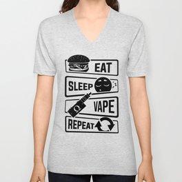 Eat Sleep Vape Repeat - Vaping E-Cigarette Vaper Unisex V-Neck