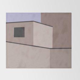 The Desert House Throw Blanket