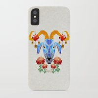 chinese iPhone & iPod Cases featuring chinese goat by Manoou