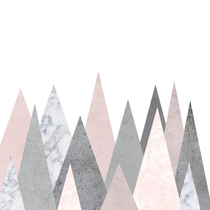 BLUSH MARBLE GRAY GEOMETRIC MOUNTAINS Comforters