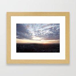 Salisbury Crags overlooking Edinburgh at sunset 4 Framed Art Print
