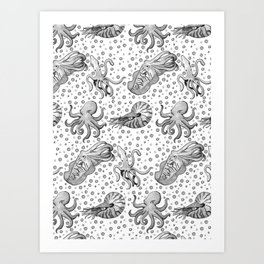 Cephalopods  Art Print