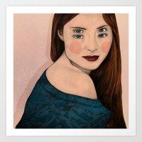 iris Art Prints featuring Iris by Sofia Azevedo