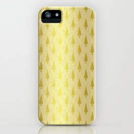 Gold Christmas Forest iPhone Case