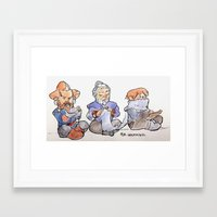 nori Framed Art Prints featuring Nori, Dori, Ori by mianewarcher