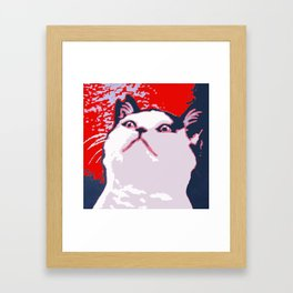 Obey the Cat Framed Art Print