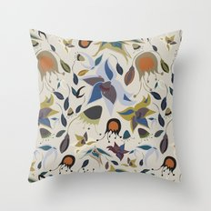 Lush Garden Throw Pillow