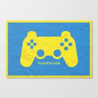 playstation Canvas Prints featuring Playstation (Control Series) by emlem