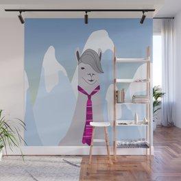 Lama Hipster Design Wall Mural
