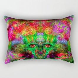 The Flower King Rectangular Pillow