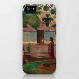 "Paul Gauguin ""The Large Tree"" iPhone Case"