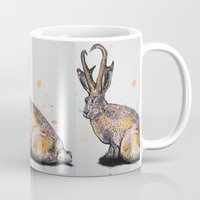 jackalope Mugs featuring Jackalope by Joseph Kennelty