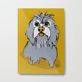 Lulz - gray/yellow Metal Print