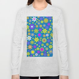 "1960's ""Flower Power"" Print Long Sleeve T-shirt"