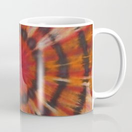 Tie Dye Black Ring Red Orange Stripe Coffee Mug