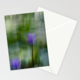 Tropical Impressionism (Purple Water Lily) Stationery Cards