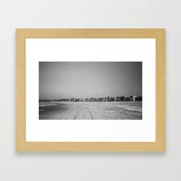 Lonely Venice Beach Framed Art Print