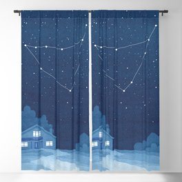 Capricorn Constellation, zodiac, house Blackout Curtain