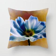 Blue Cosmos Throw Pillow