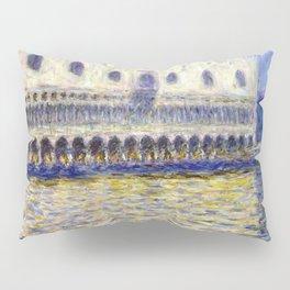 1908-Claude Monet-The Doges Palace (Le Palais ducal)-81 x 99 Pillow Sham