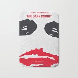 No245 My Dark minimal Knight movie poster Bath Mat